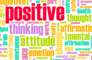 Positive Word Collage